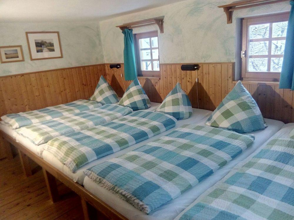 Familienbett-Zimmer des Ferienhauses