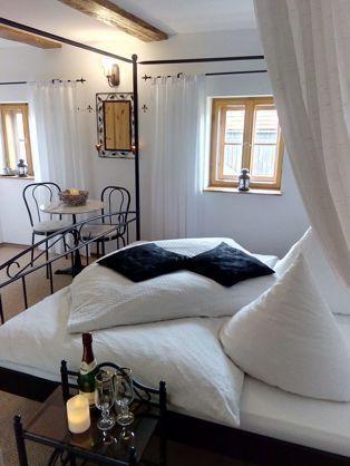 Himmelbett-Zimmer der Ferienwohnung