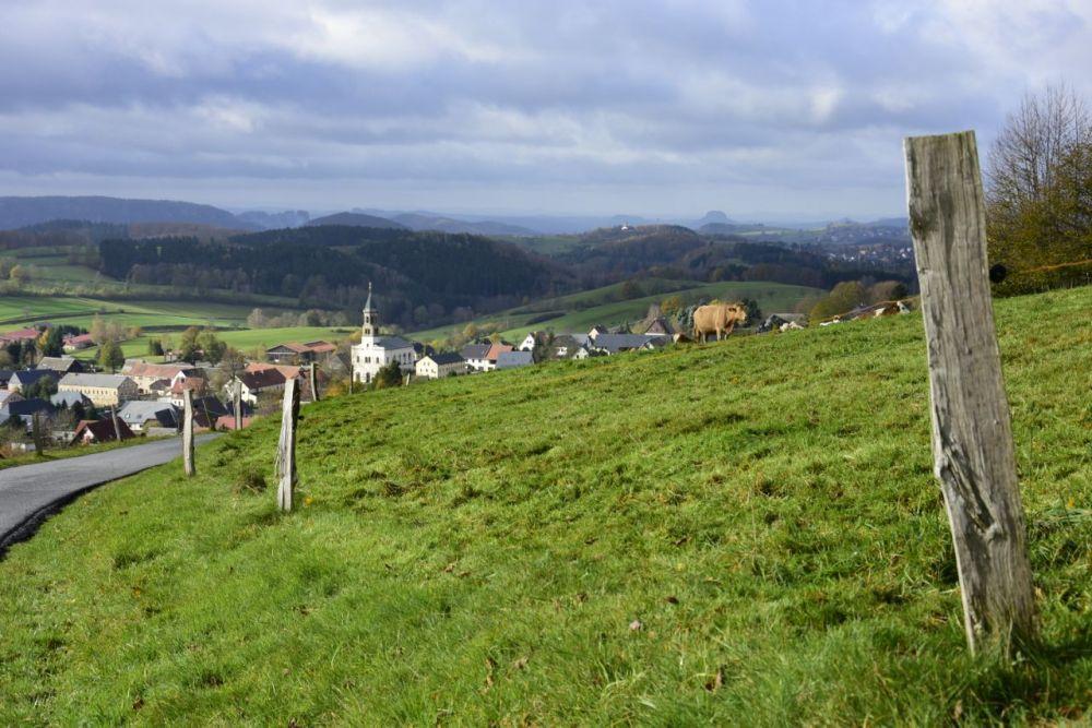 Blick nach Saupsdorf